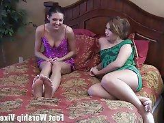 BDSM, Femdom, Foot Fetish, Lesbian, Stockings