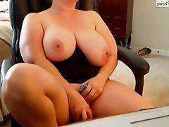 BBW, Big Boobs, Masturbation, MILF, Webcam
