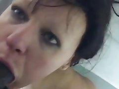 Amateur, Blowjob, Shower, Black Cock, Big Cock