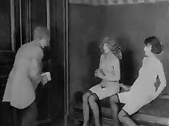 Hairy, Lesbian, Threesome, Vintage