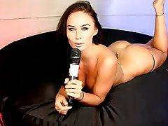 Babe, Big Boobs, British, Brunette, Webcam